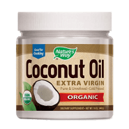 Coconut oil representing a product from the approved products of the Wheat Belly lifestyle.