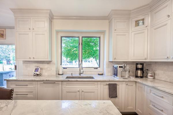 Double Stacked Kitchen Cabinets In Elmhurst Illinois