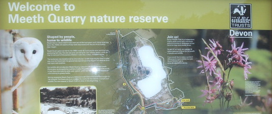 Meeth Quarry information board