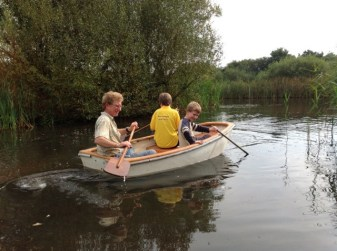 Paddle the boat on the wildlife pond at Wheatland Farm