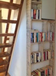 book shelves, Balebarn eco lodge