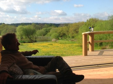 Looking out from Balebarn Eco Lodge