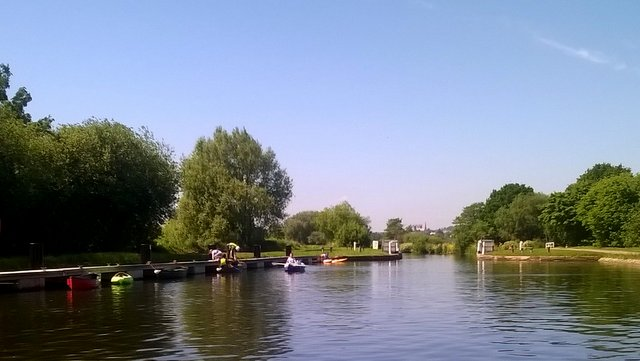 The Exe River, at the Double Locks