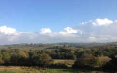 View from the road to North Tawton