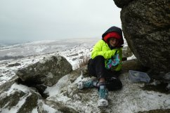 Finding the Geocache at Belstone Tor