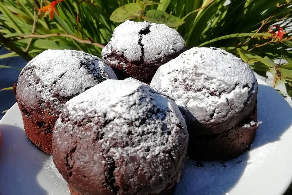 Vegan chocolate cakes - an alternative to Devon scones at Wheatland Farm