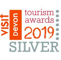Silver award logo, Ethical, Responsible and Sustainable, Devon Tourism Awards 2019