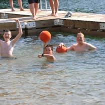 having fun at water sports
