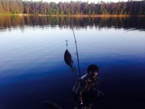 Alex caught a fish!