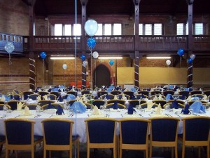 Main hall with balloons