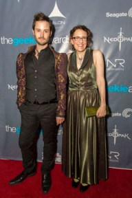 Jane Espenson and Brad Bell at The Geekie Awards