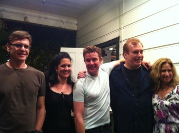 Director , Cameron Meyer, James Marsters, David Fury, and Elin Hampton. Photo Credit: Isis Nocturne