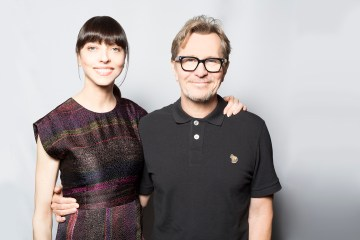 Juliet Landau and Gary Oldman 2015