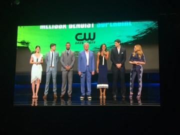 The CW Upfronts - Melissa Benoist, Grant Gustin, Stephen Amell, Victor Garber,Megalyn Echikunwoke, Brandon Routh, Caity Lotz