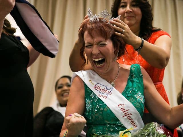 Dr. Coble-Temple being crowned Ms. Wheelchair America