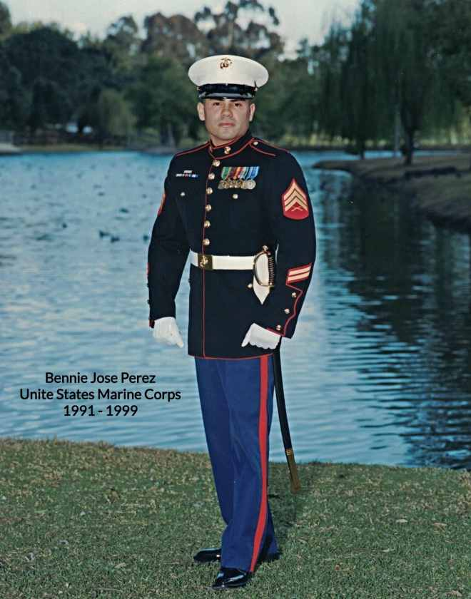 Bennie Jose Perez in US Marine Corps Uniform