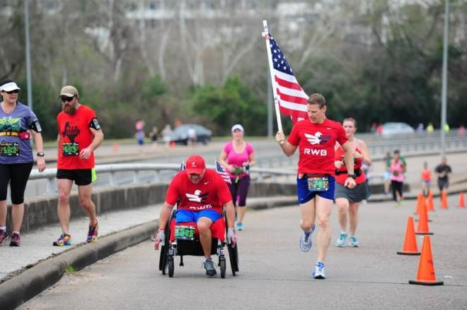 Bennie Jose Perez competing in 2015 Veterans Day race