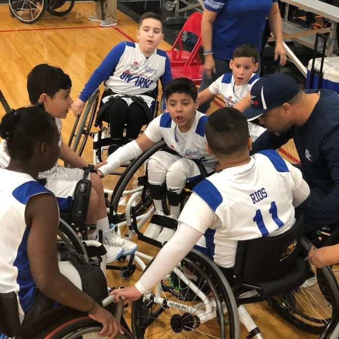 Luis with juniors team.