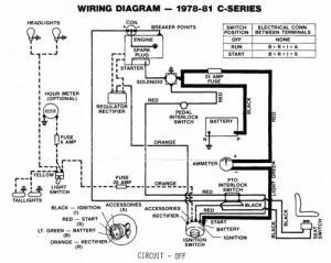 Tractor 1979 CSeries Kohler Powered Wiring Detailedpdf