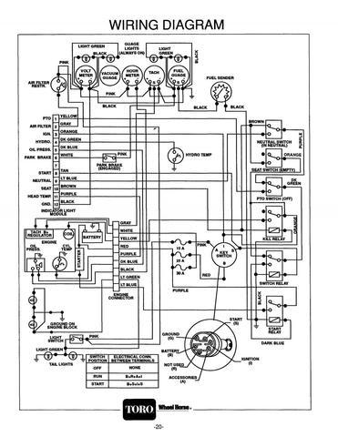toro wheel horse 520h engine will not start electrical