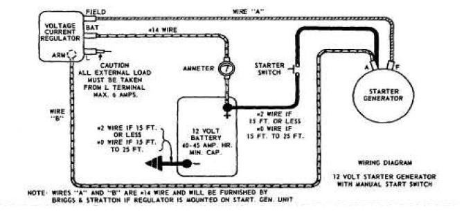starter/generator voltage regulator wiring  wheel horse
