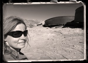 Yours truly by the cyanide vats that used to process gold ore