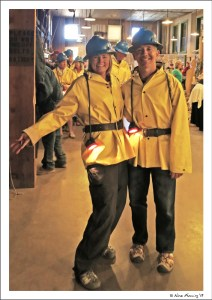 All dressed up and ready to go at the Queen Mine Tour