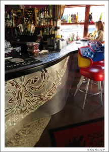 The gorgeous bar at the Screaming Banshee