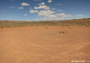 View of an empty site set back from the rim
