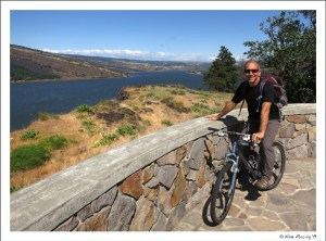 Paul poses at a lookout on the bike trail