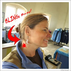 Sporting lighthouse BLING thanks to Kathy at Birding RVers