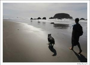 Walking on deserted Whaleshead Beach