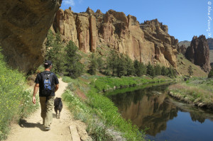 Hiking the river trail at Smith Rock SP