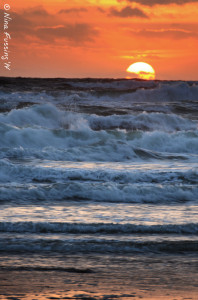Wild waves on my solo sunset