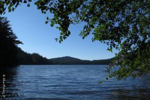 Waiting, waiting...at pretty Cascade Lake