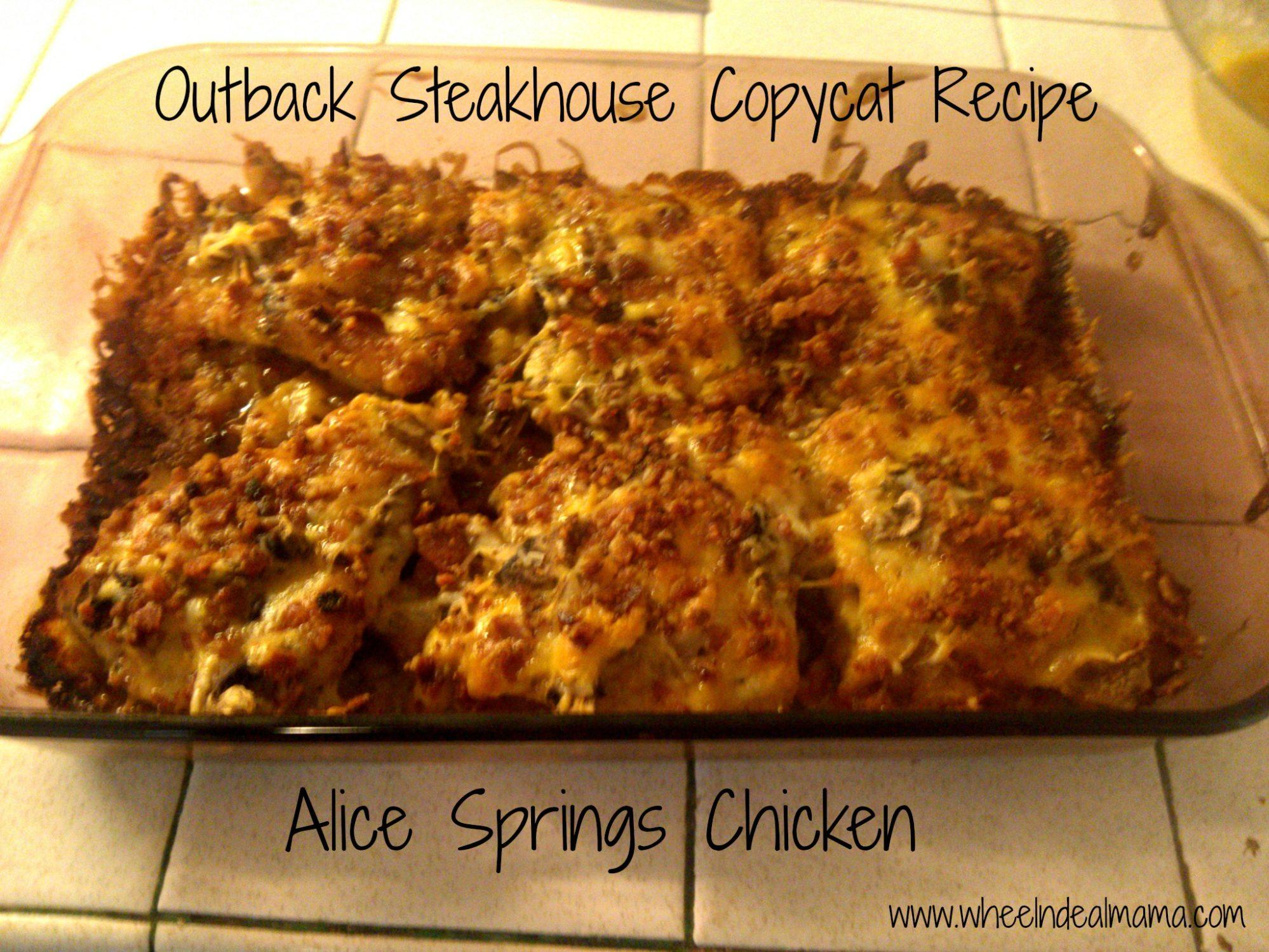 Alice Springs Outback Recipe Chicken