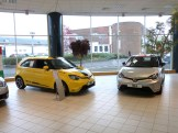 The latest MG3s are displayed in the showroom, and the various examples shown provide a flavour of the multitude of options available to buyers.