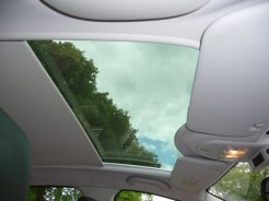 A standard feature on the 'Allure' variant is this Cielo panoramic glass roof, complete with electrically-operated blind. Lovely!