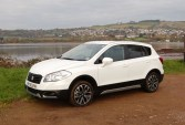 Even on a dull day by the Teign estuary, our Suzuki's striking white paintwork stood out and made the most of the available light. Incidentally, the car proved to be particularly easy to keep clean…