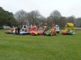 Can you believe it? The 'actual' Wacky Racers and their rascal crews were lined up on the lawn in front of Goodwood House, on the occasion of press preview day.