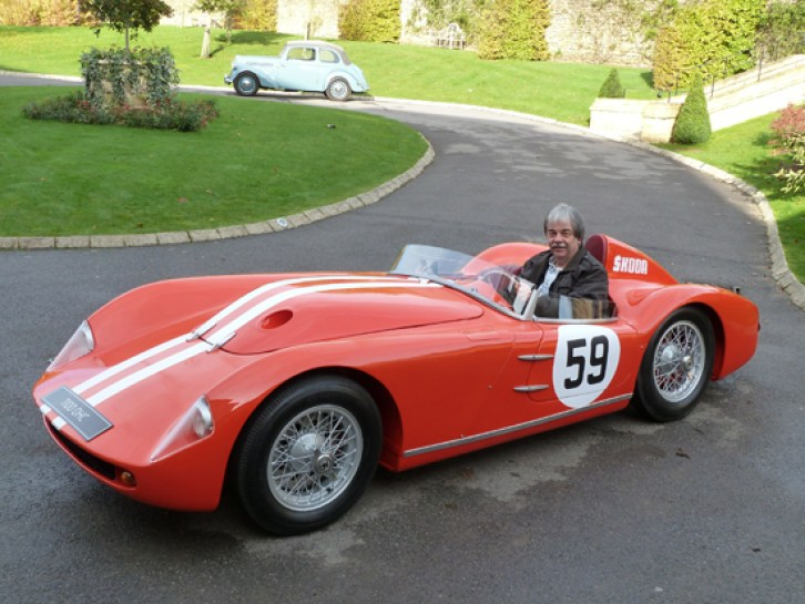 Kim at the wheel of a truly innovative and ultra-rare Skoda – a 1957 1100 OHC.