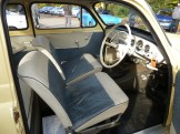 The interior of the 1964 Octavia is basic but comfortable. This one even has a radio fitted.