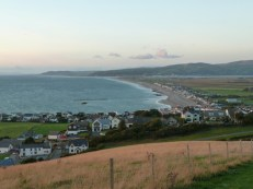 Just a few minutes after the previous photograph was taken, it was darker still, but the near-calm sea, Borth's long beach and the tranquil hills to the north and beyond looked as inviting as they had in the bright sunshine earlier in the day.
