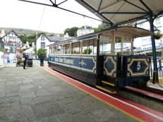 When visiting Llandudno, it's worth riding on the Great Orme Tramway. The tracks wend their way through steep, narrow streets, on their way to the top of the rocky limestone headland known as the Great Orme, towering above the town.