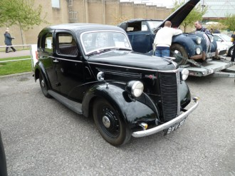 This very tidy, 'original' 1938 Ford Ten was for sale at Beaulieu.