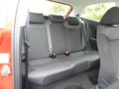 There is room for up to three rear seat passengers, with plenty of head room, but not-so-generous leg room with the front seats set towards their rearmost positions.