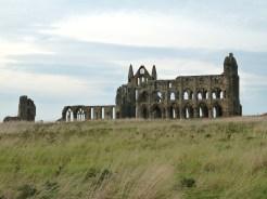 The evocative Whitby Abbey as dusk approached.