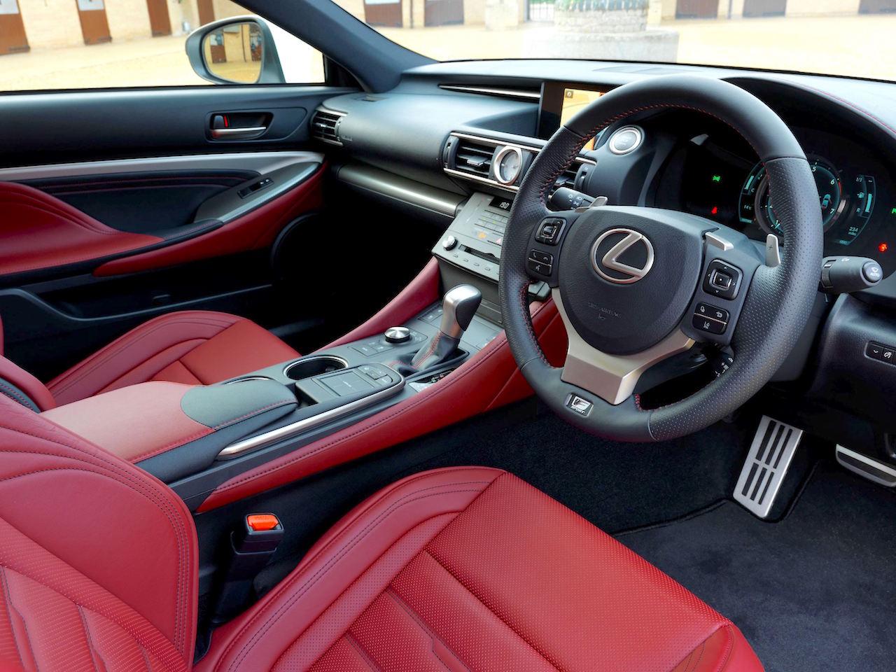 Lexus RC 200t front interior copy