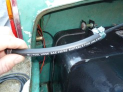 This very recent 'J30/R6' hose, suitable for unleaded petrol, is not ethanol-tolerant. (Photo by Kim Henson).