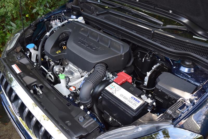 The four cylinder, 16 valve 1.4 litre Boosterjet K14C petrol motor in our test car.